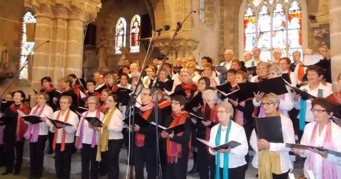 Les chorales Alauda et Chant'Ô Vent réunies pour le final