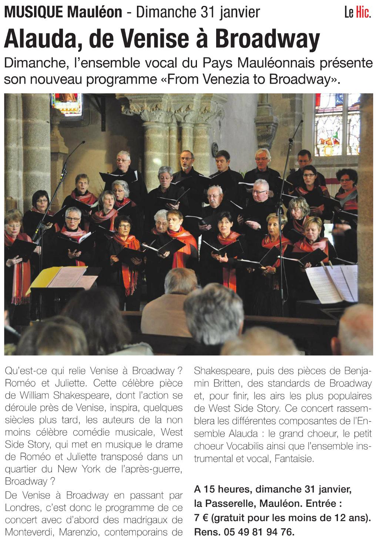 Article le Hic Cholet 25012016